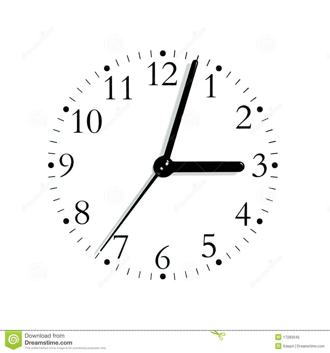 Black Whiteogue Clock Face Dial Isolated Royalty