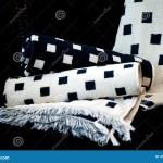 Black White Bath Towels Stock Image Image Of Fabric 4920711