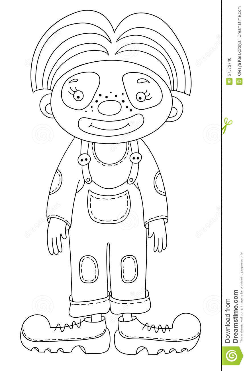 Black And White Line Art Illustration Of Circus Stock