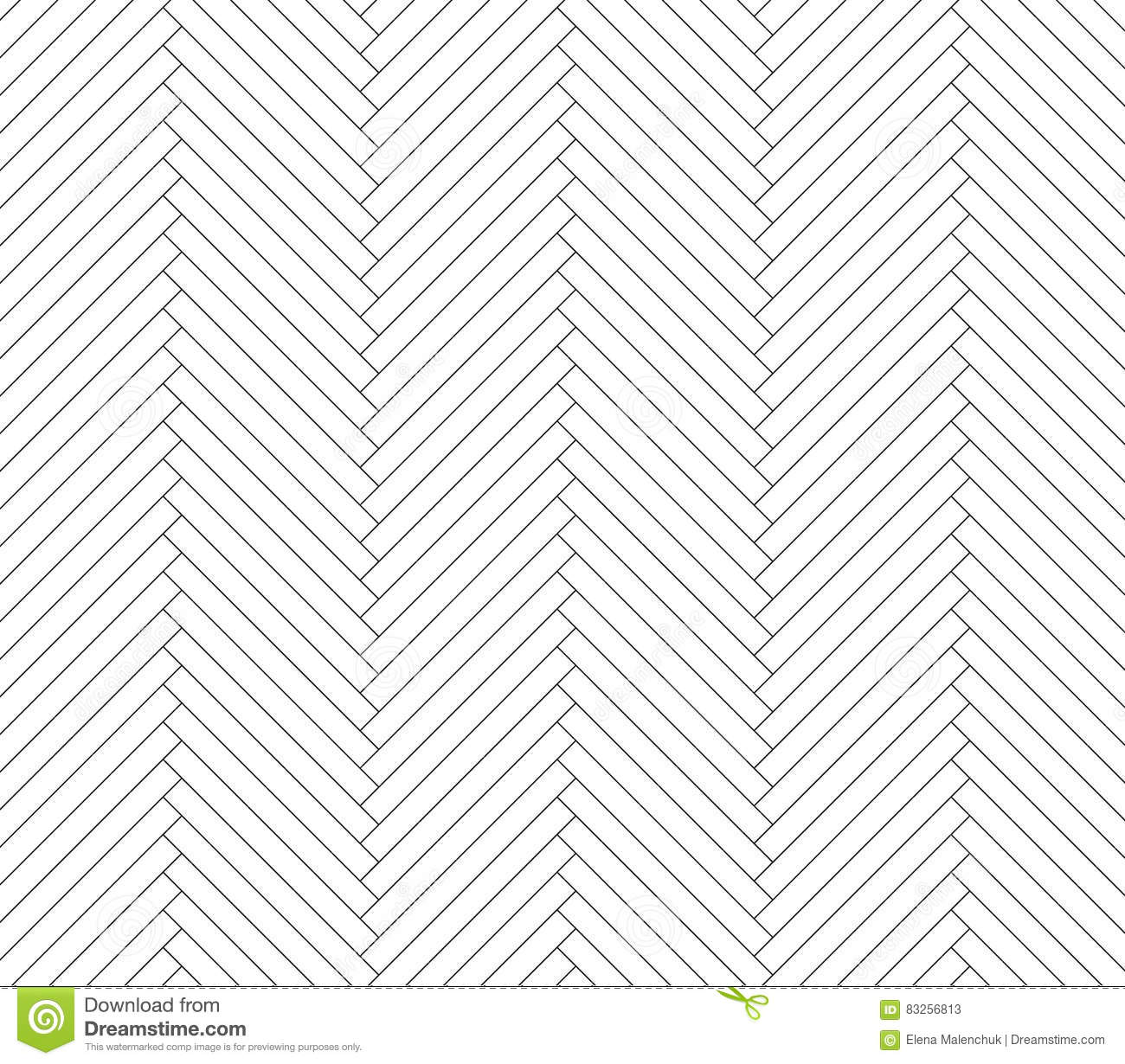 Black And White Parquet Pattern Stock Vector
