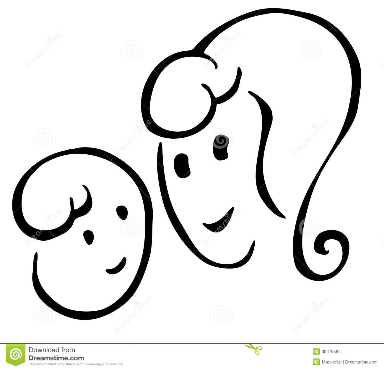 Mother And Baby Stock Illustration Illustration Of