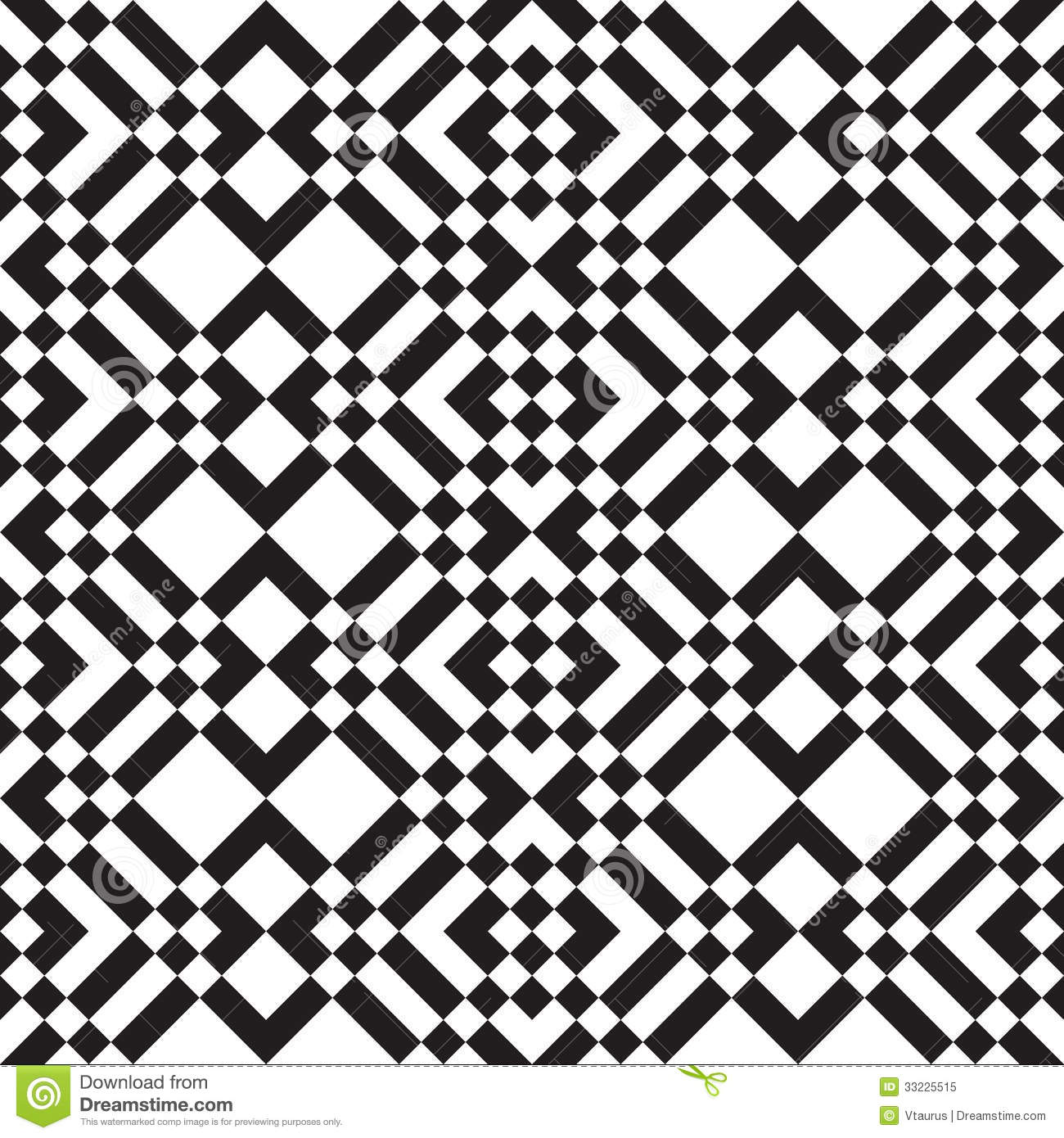 Black And White Squares And Stripes Stock Vector