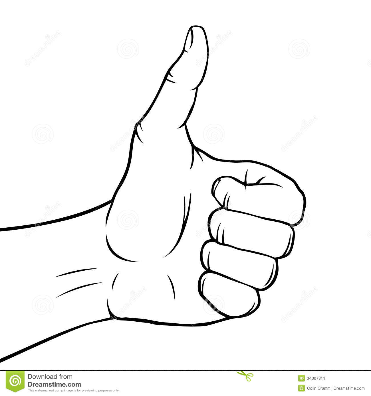Black And White Thumbs Up Stock Vector Illustration Of