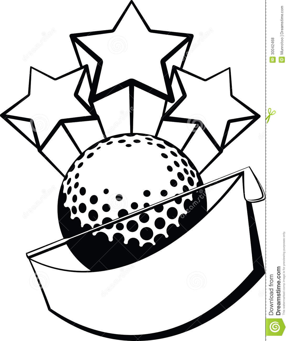 Golf Banner With Stars Royalty Free Stock Photos
