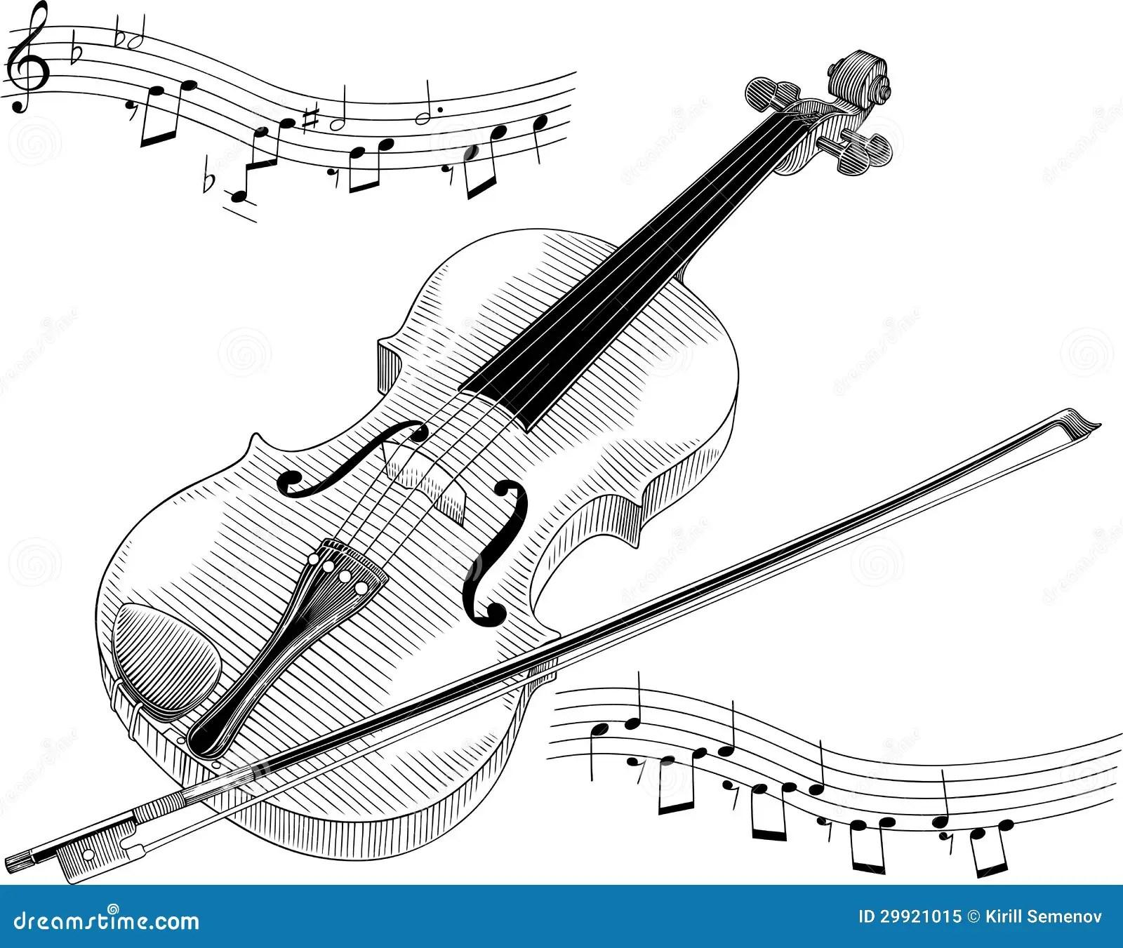 Violin Stock Vector Illustration Of Single Sketch