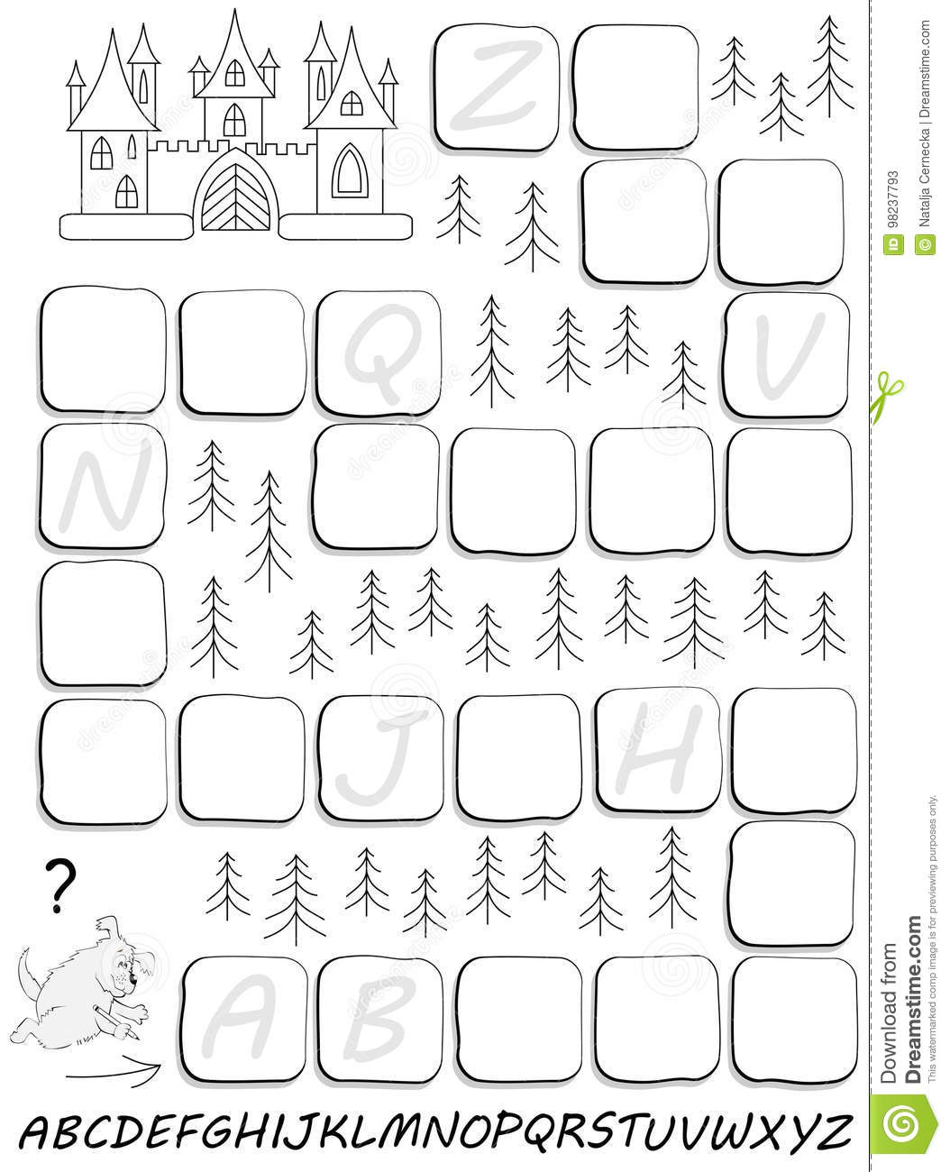 Black And White Worksheet With Exercise For Study English