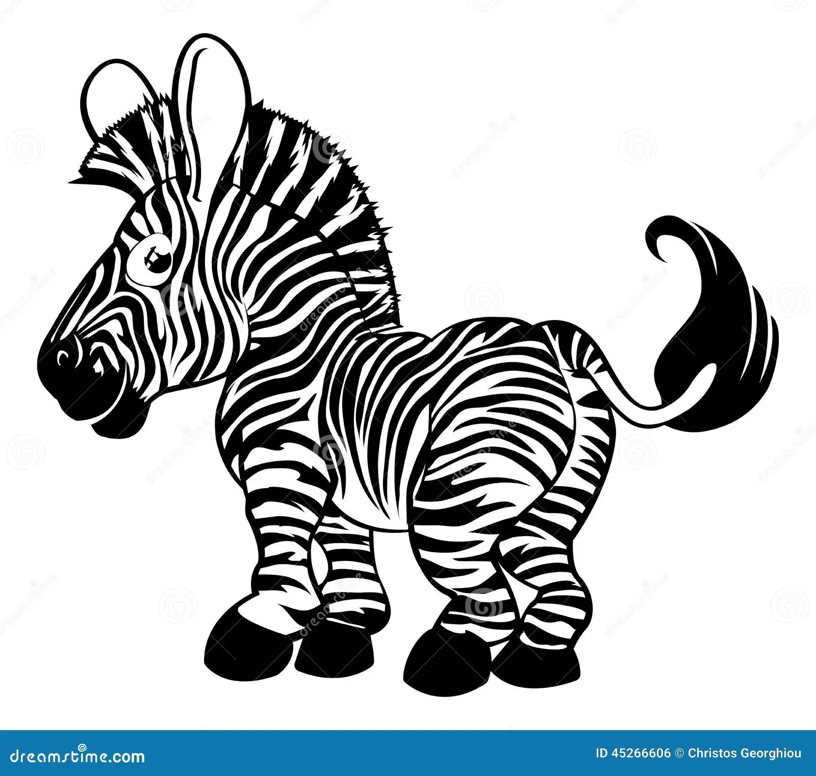Black And White Zebra Stock Vector Illustration Of