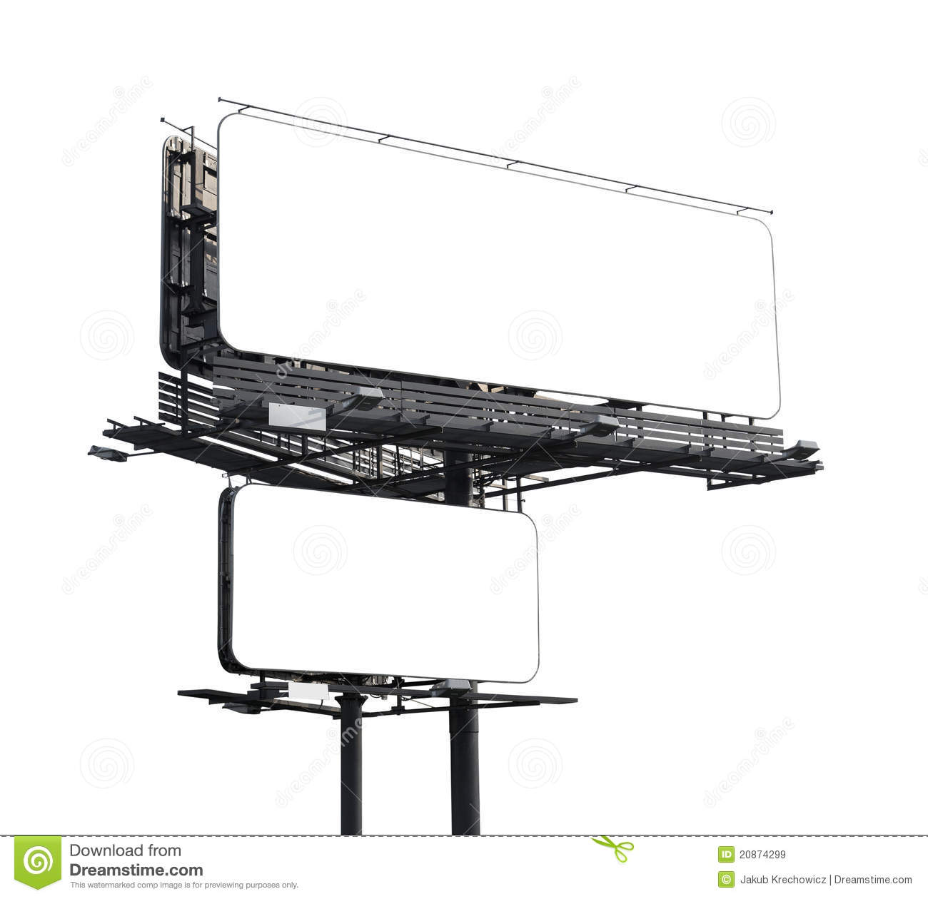 Blank Billboard With Clipping Path Royalty Free Stock