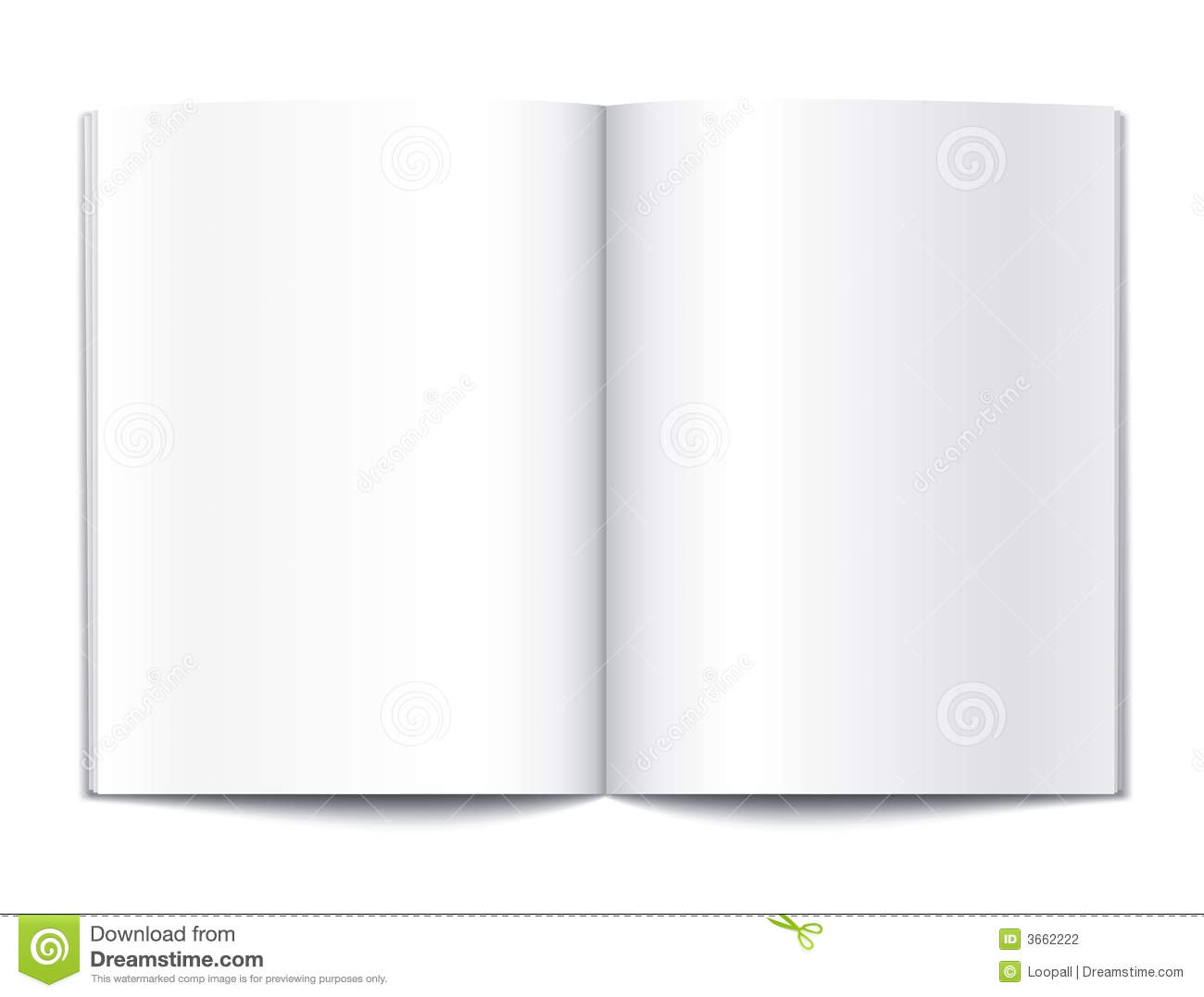 Blank Book Pages Template Stock Photography