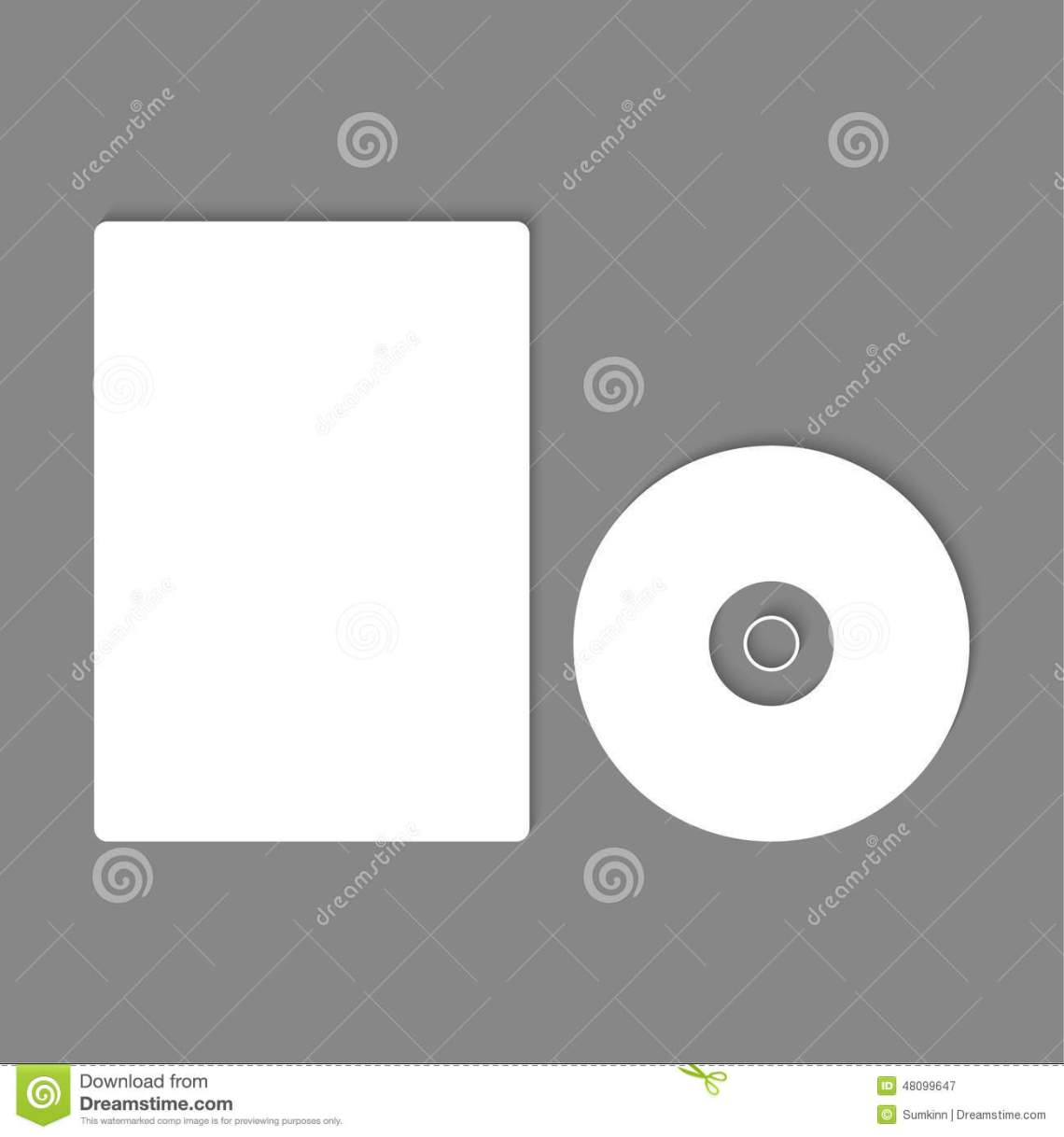 Download Blank CD, DVD mock up. stock vector. Illustration of ...