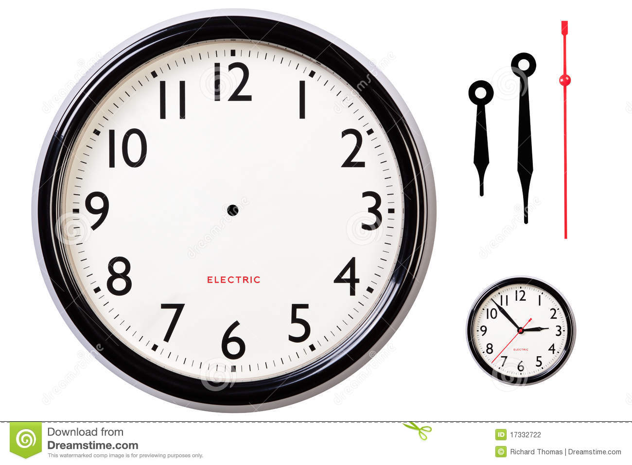Blank Clock Face And Hands Stock Photo Image Of Numbers
