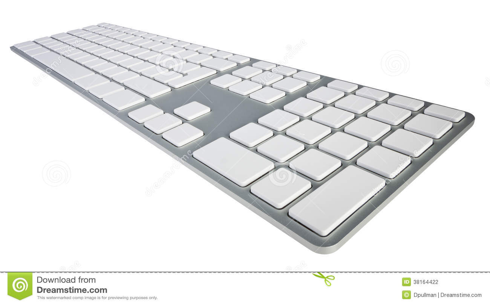 Blank Computer Keyboard Stock Photography