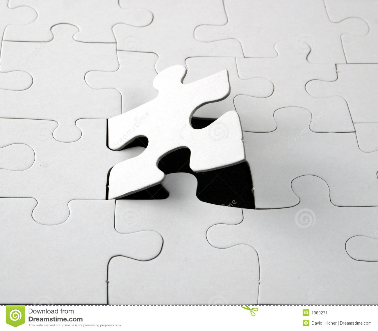 Blank Jigsaw Stock Image Image Of Advertising Colors