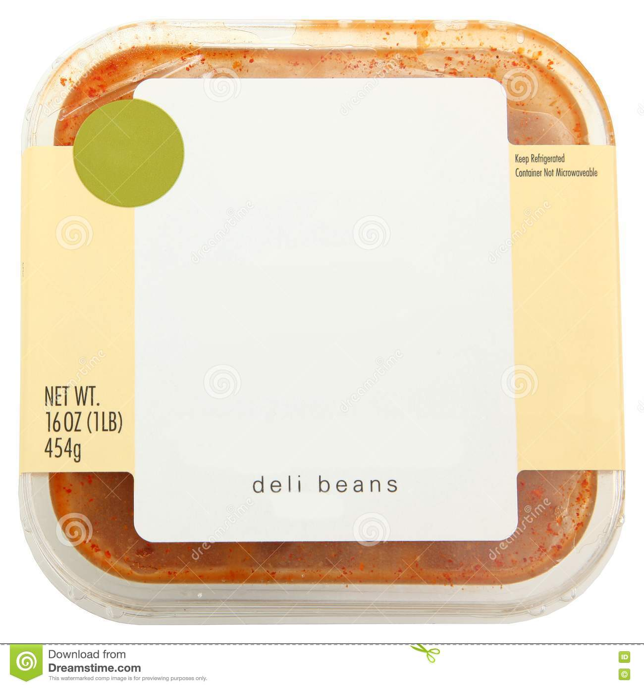 Blank Label Container Of Baked Beans Stock Photos