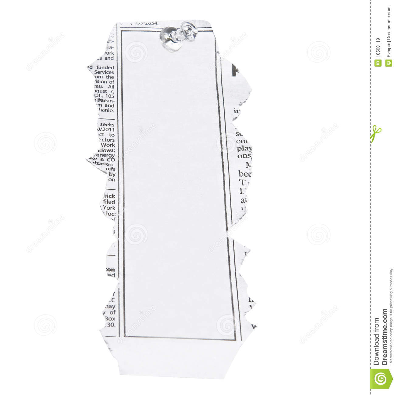 Blank Newspaper Clipping Stock Image Image Of Note Paper