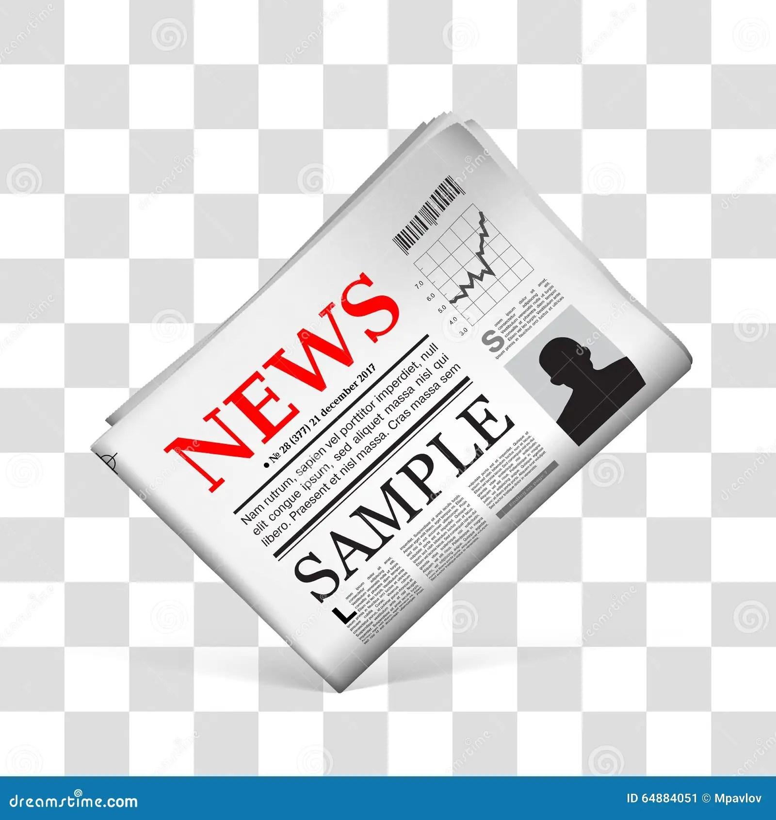 Blank Newspaper Vector Illustration Stock Vector