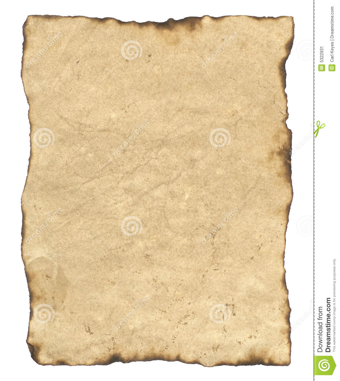 Blank Old Parchment Paper Stock Image Image Of Aged