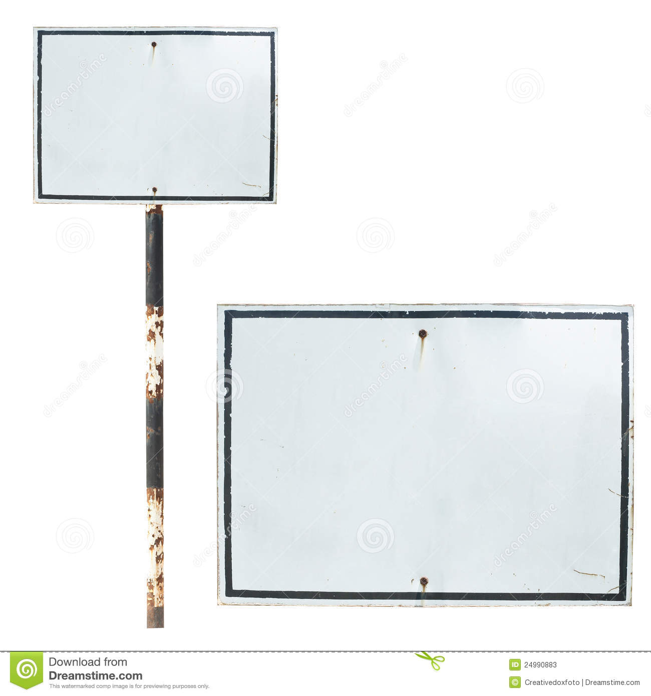 Blank Old Traffic Sign Stock Image Image Of Travel