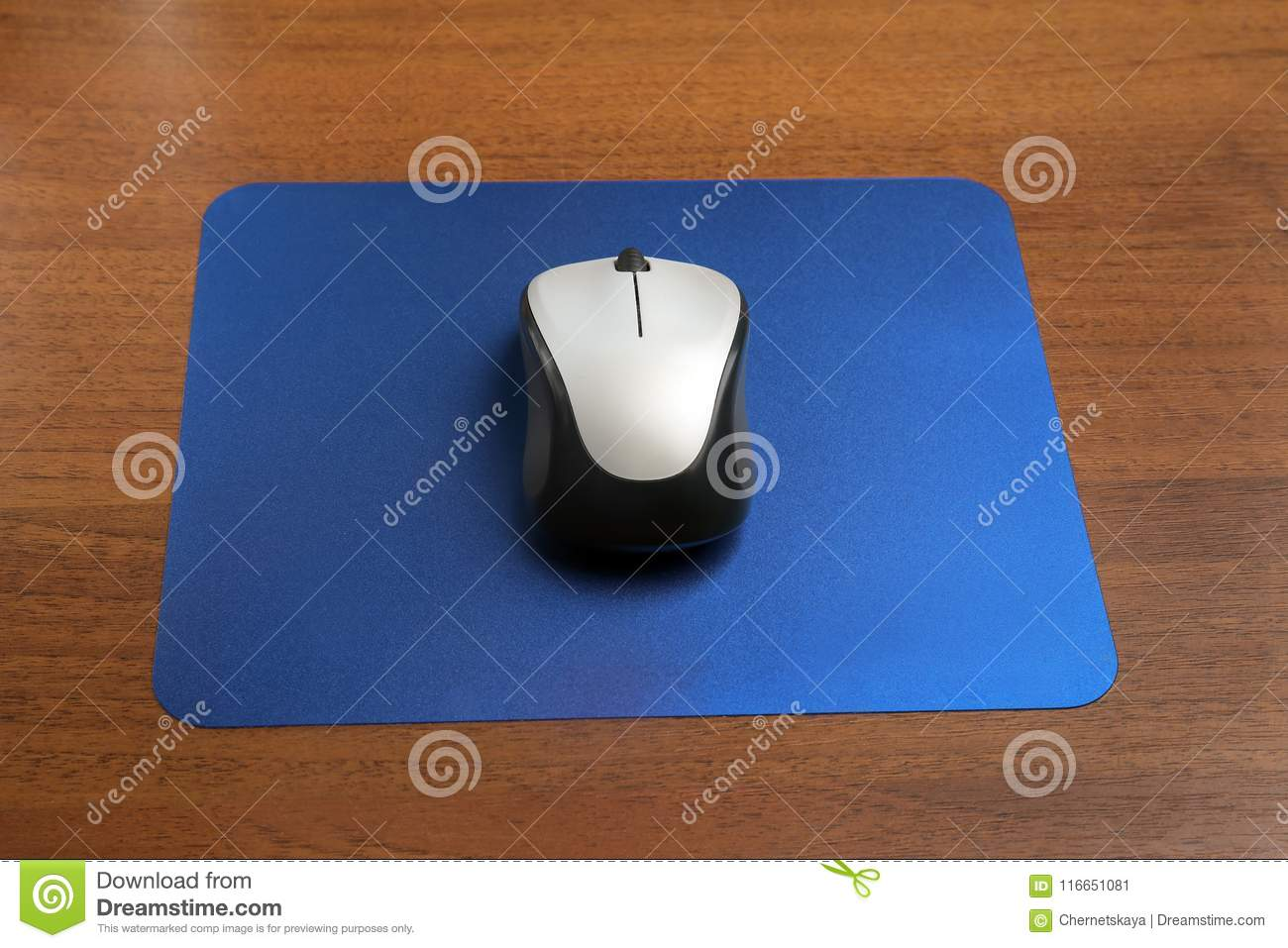 Blank Pad And Wireless Computer Mouse Stock Image