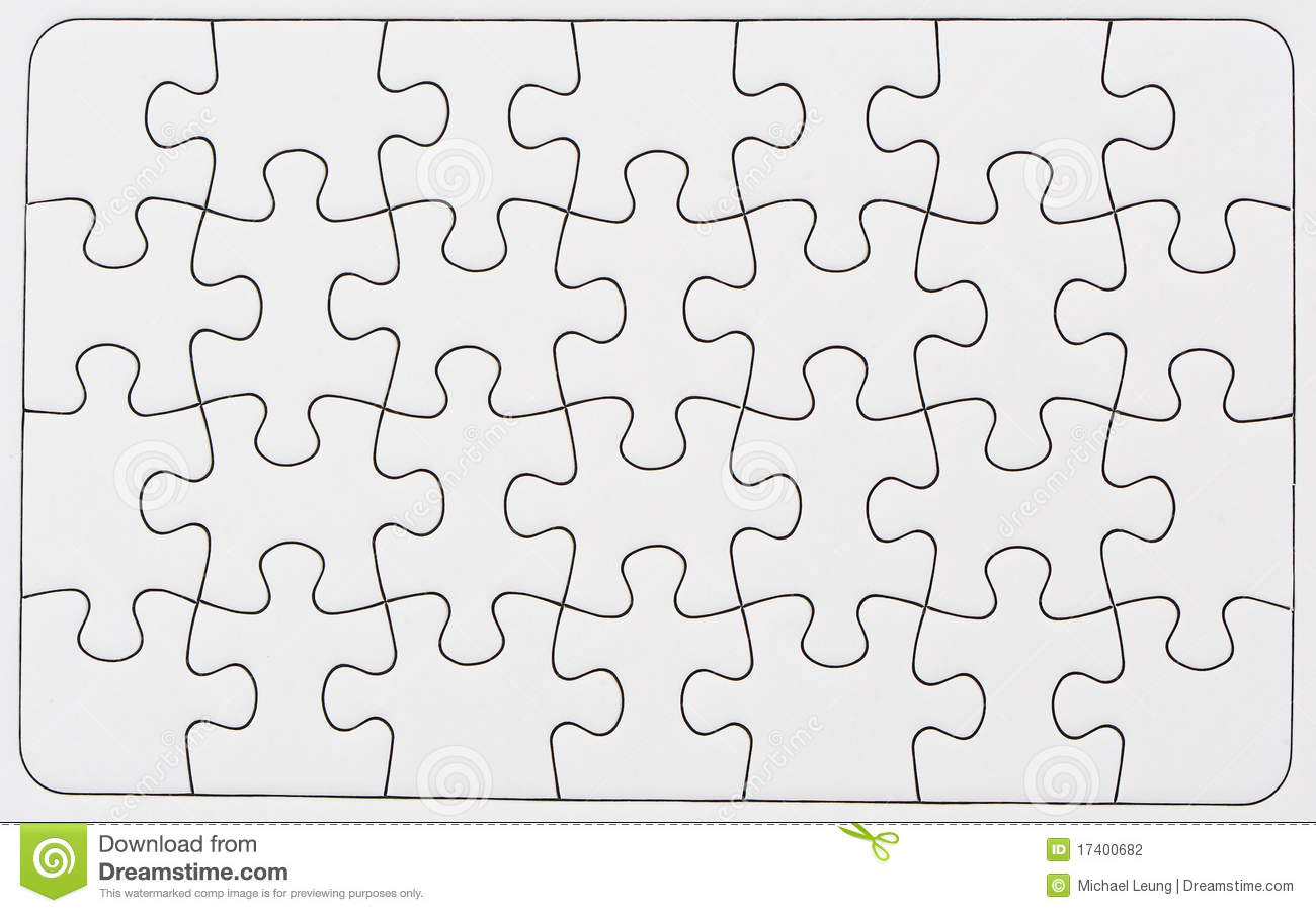 Blank Puzzle Stock Photo Image Of Pattern Puzzle Group