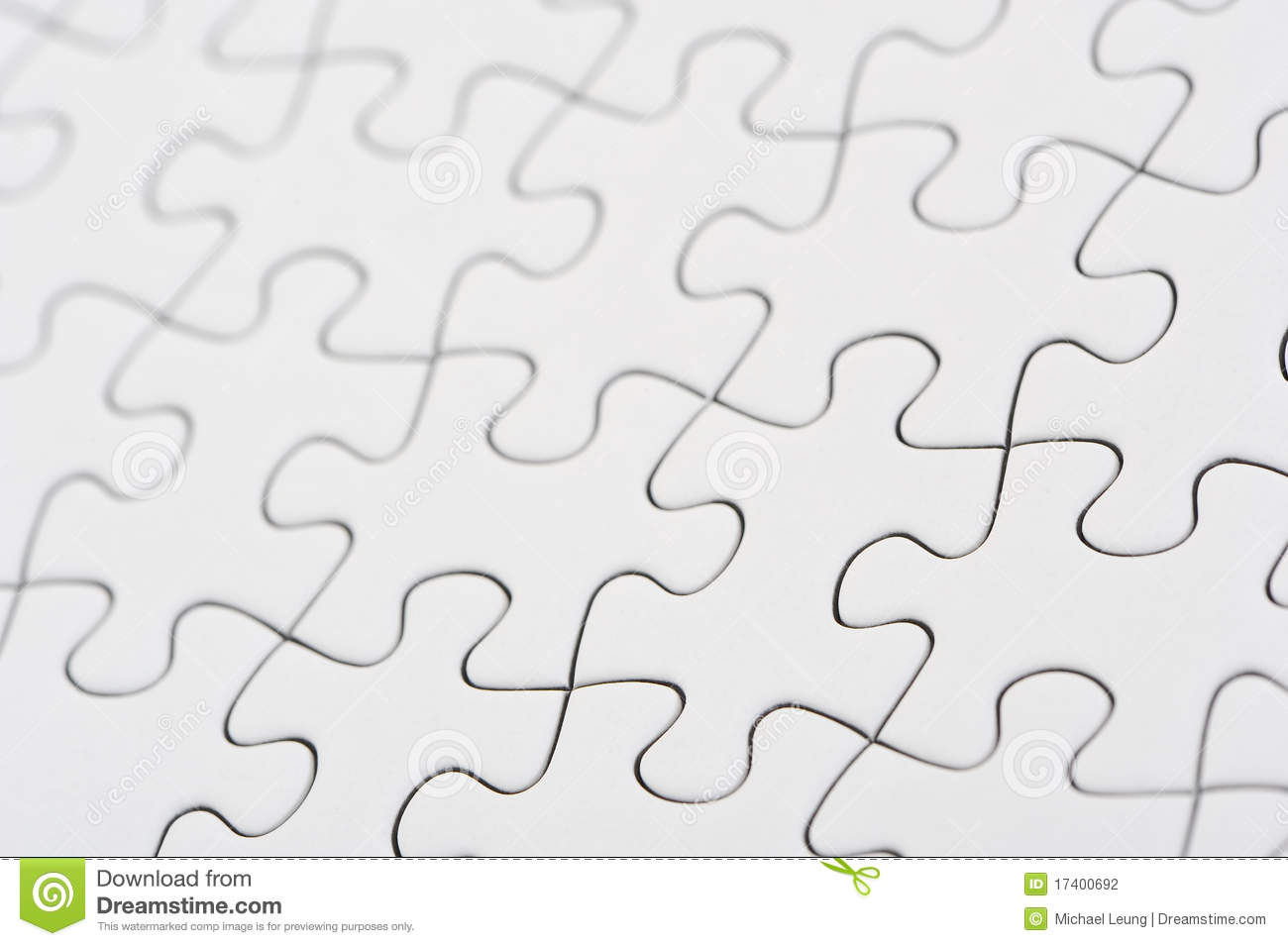 Blank Puzzle Stock Photography