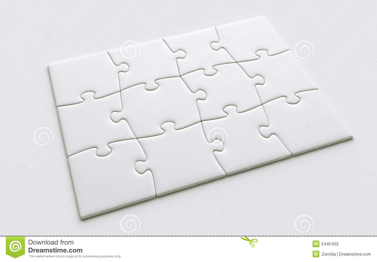 Blank Puzzle Pieces Stock Illustration Illustration Of Isolated