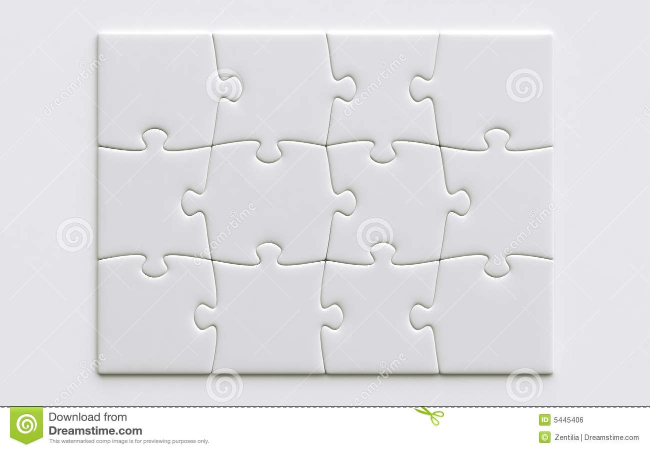 Blank Puzzle Pieces Stock Illustration Image Of Isolated