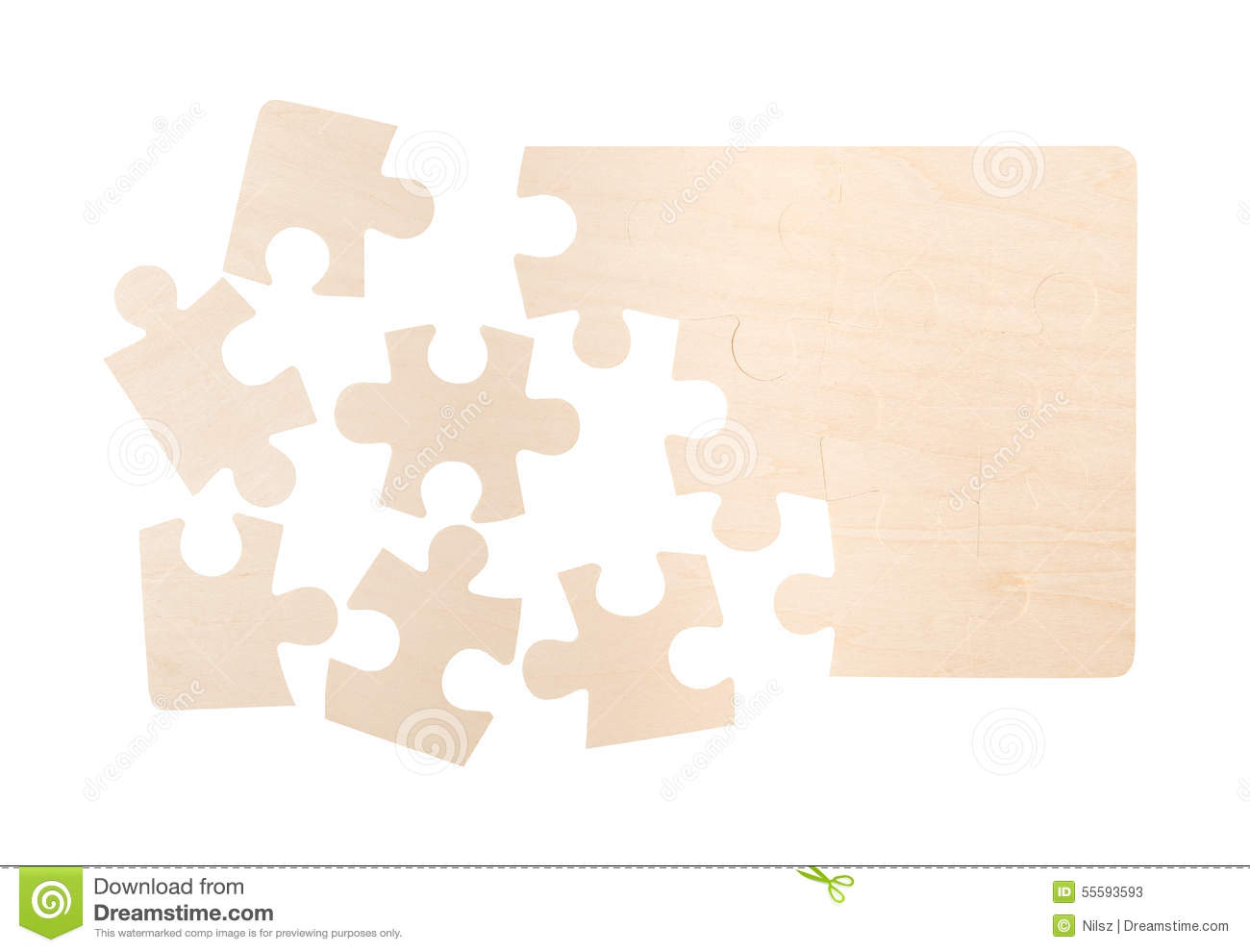 Blank Puzzle Pieces Stock Images