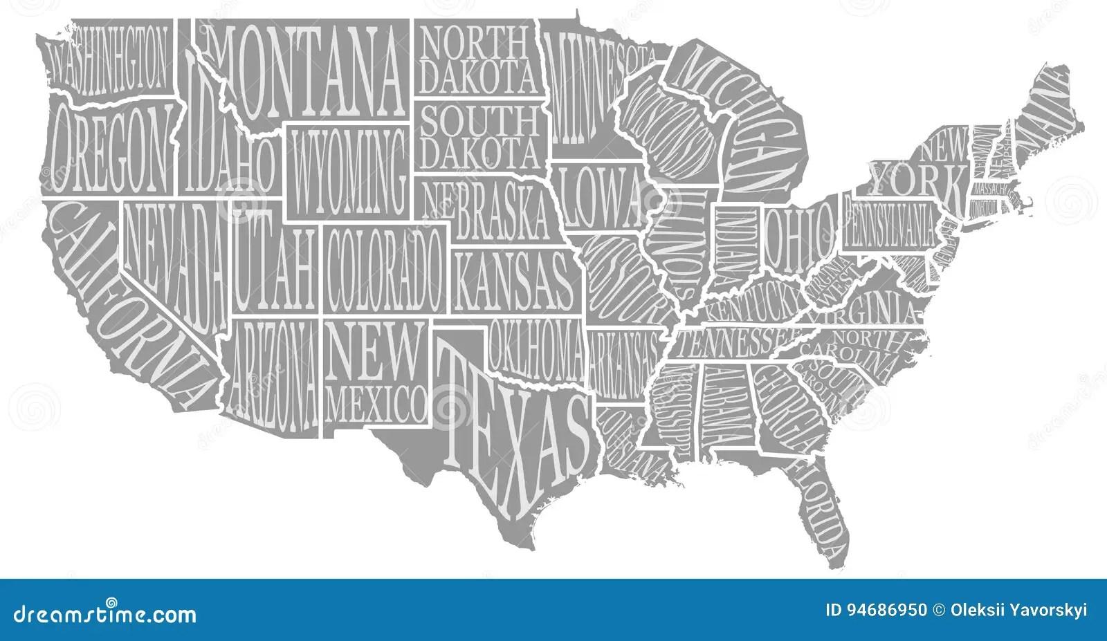 Blank Similar High Detailed Decorative Usa Map On White