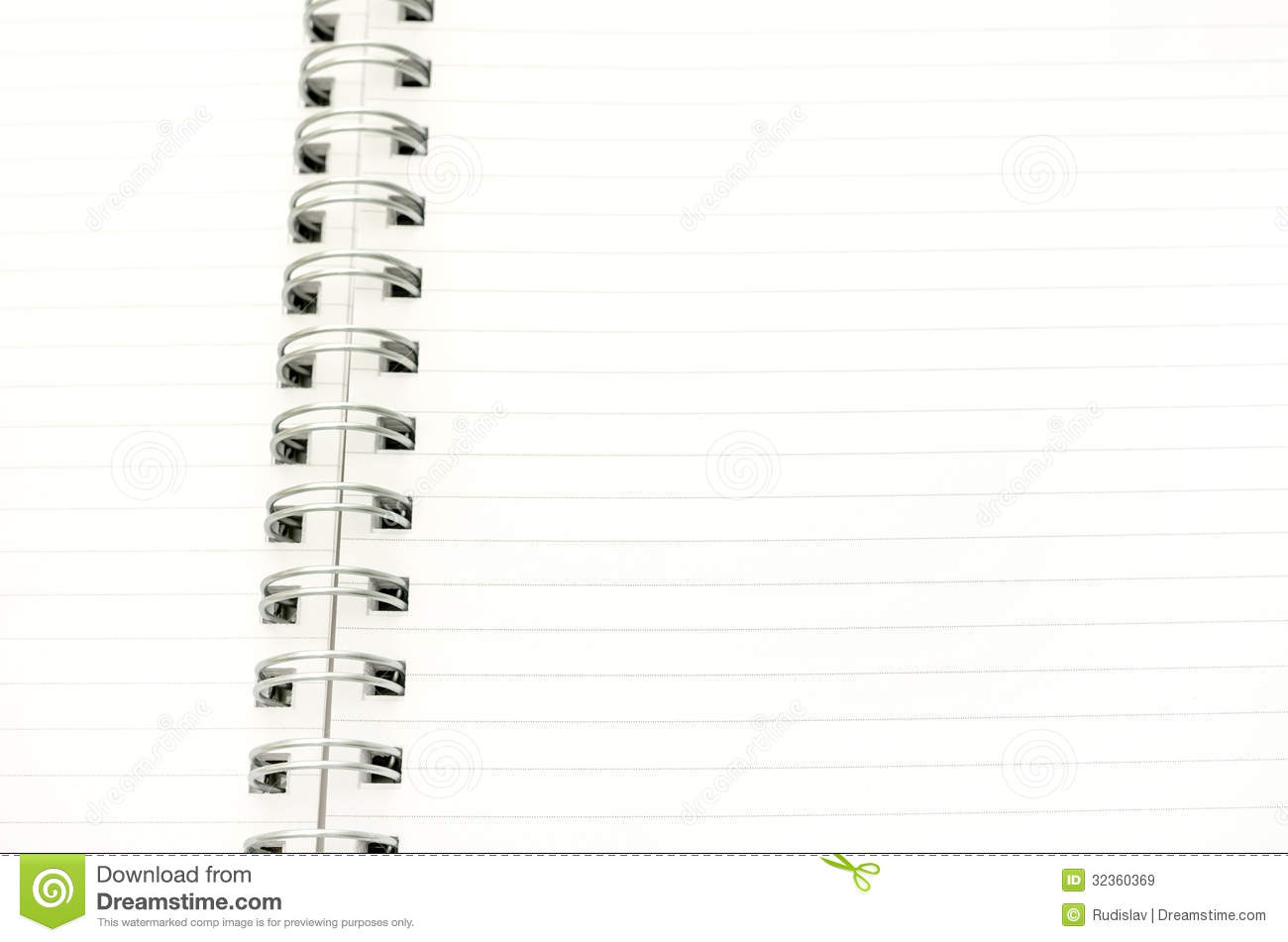 Blank Spiral Notebook Royalty Free Stock Images