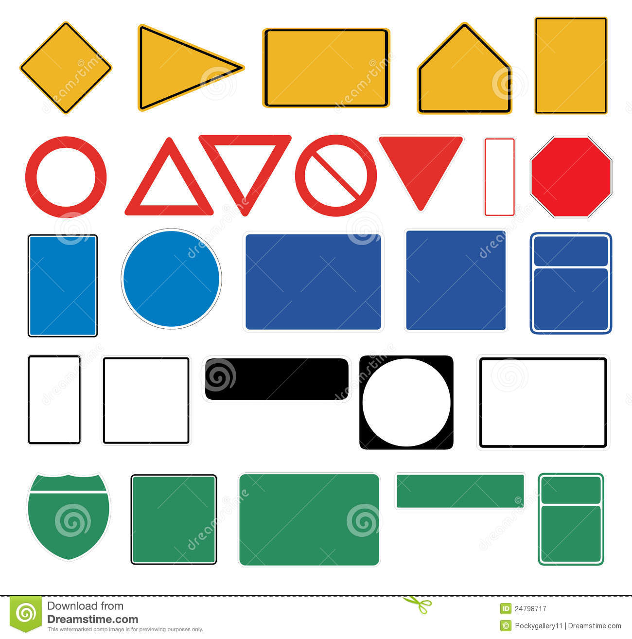 Blank Traffic Signs Royalty Free Stock Photography