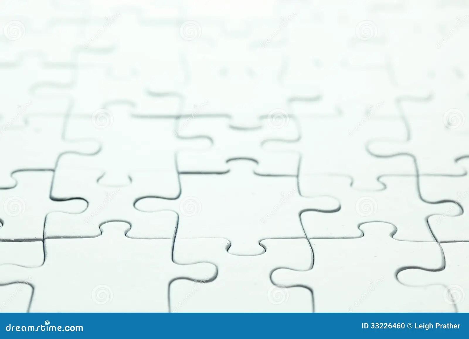 Blank White Puzzle Stock Photo Image Of Assemble Finished