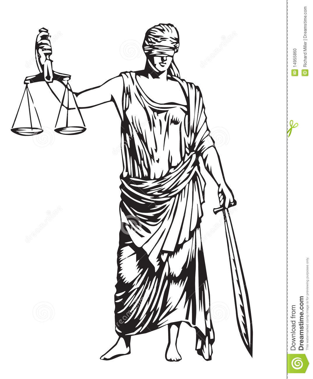 Blind Justice Stock Photo