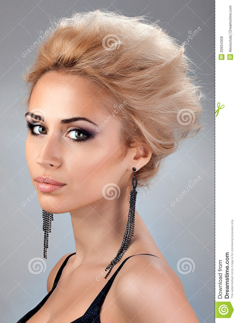 Portrait Of Beautiful Blonde With With Short Hair Royalty