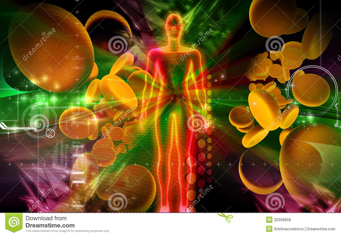 Blood Cell And Human Body Royalty Free Stock Photos
