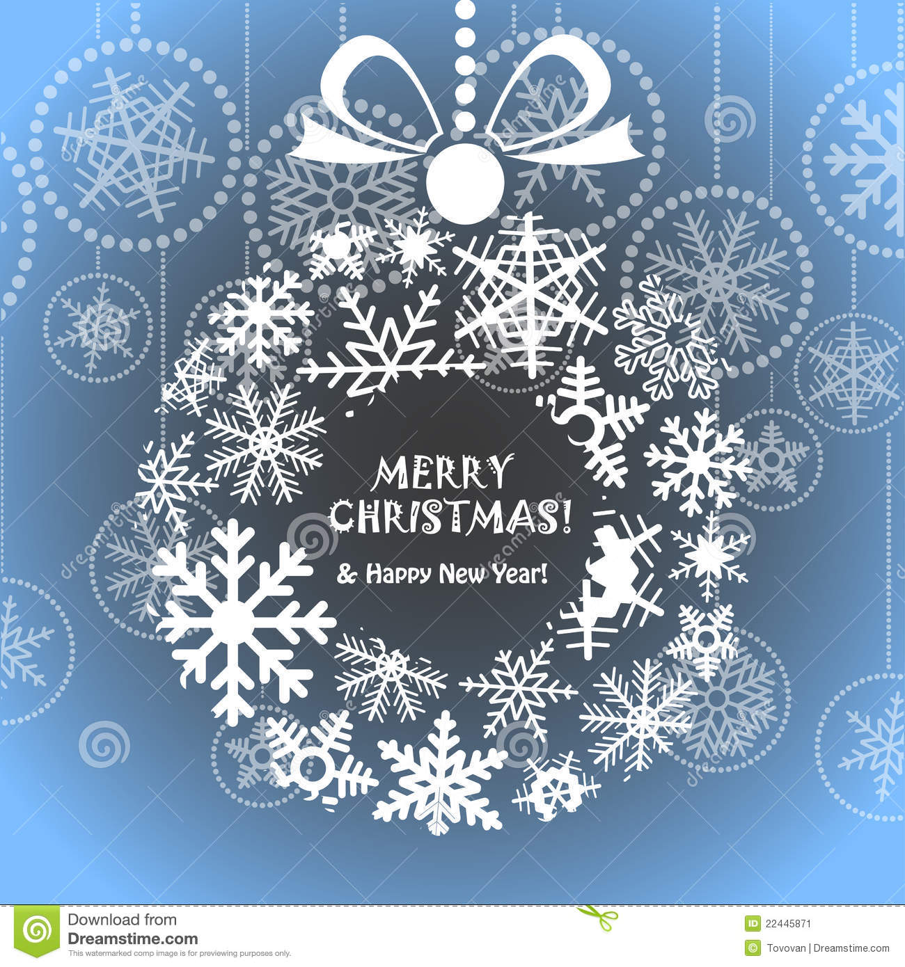 Blue Christmas Greeting Card Stock Vector Image 22445871
