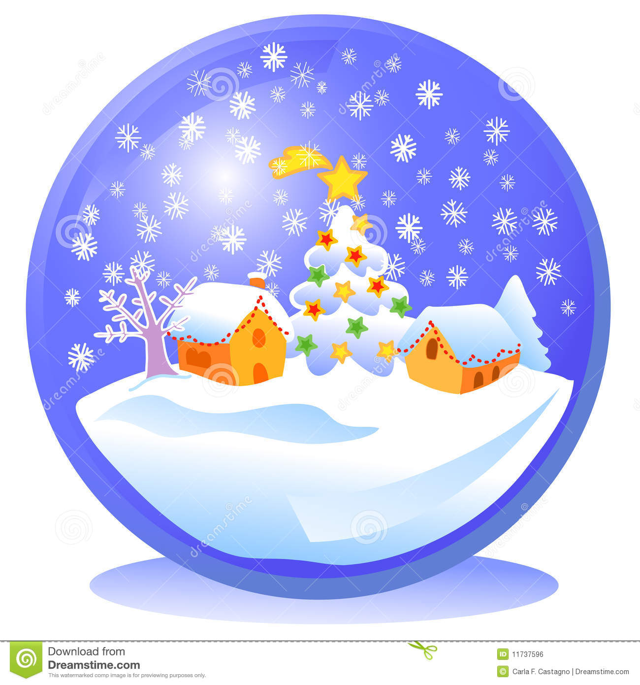 Blue Christmas Snowball Royalty Free Stock Image Image