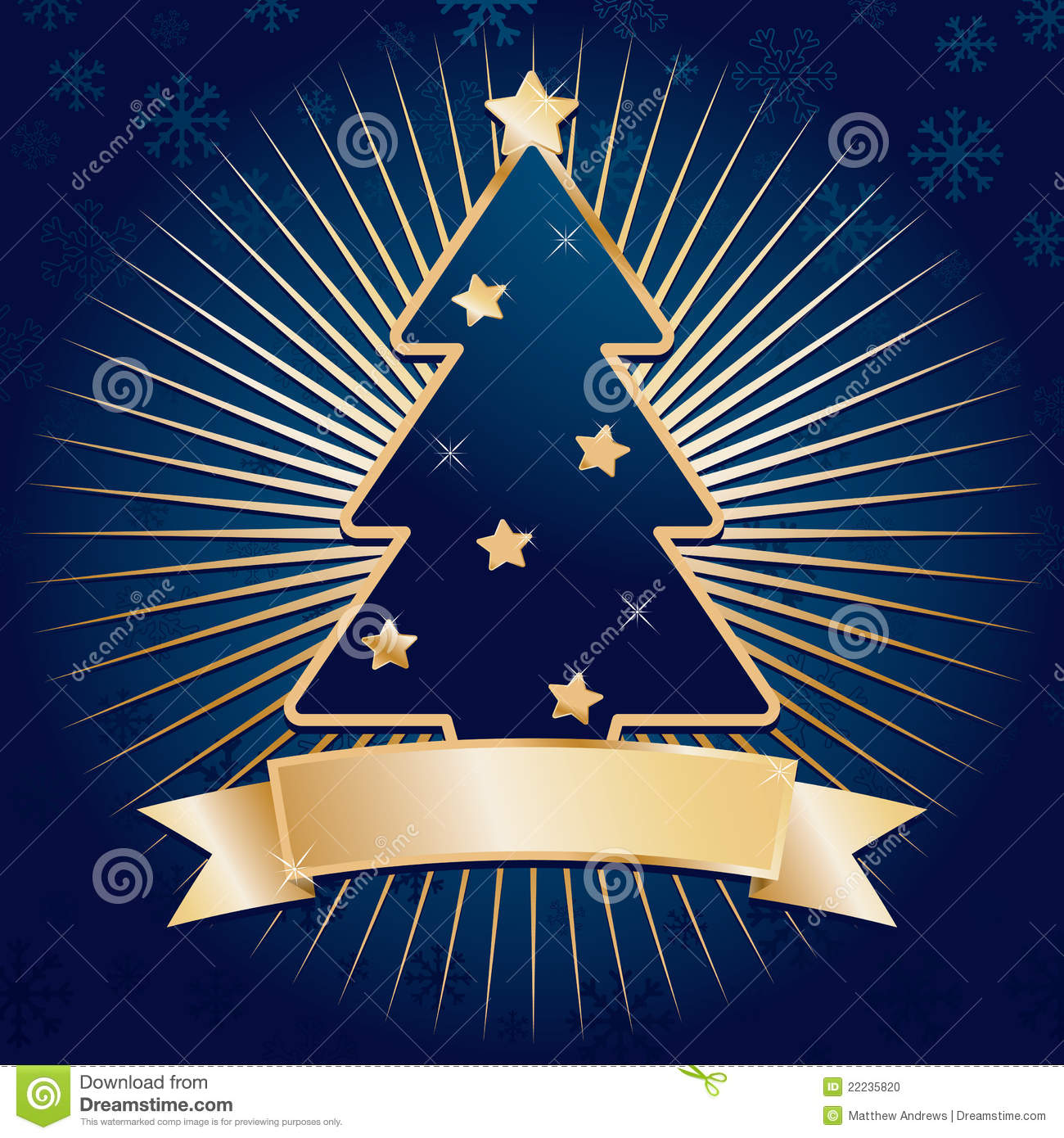 Blue And Gold Christmas Stock Photo Image 22235820