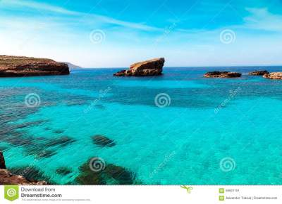 Blue Lagoon - Island Of Comino - Malta Royalty-Free Stock ...