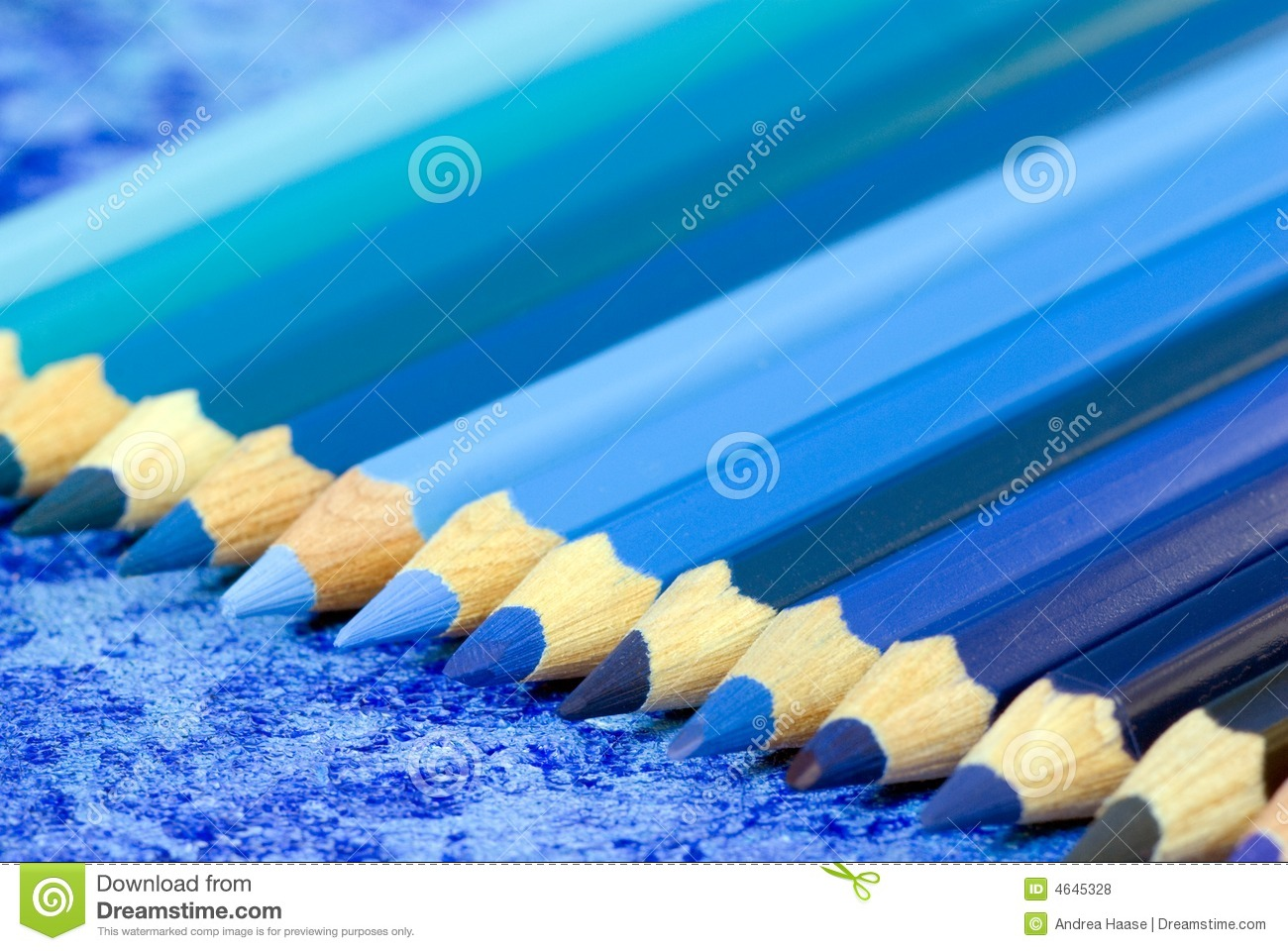 Blue Pencil Crayons Stock Photo Image Of Education