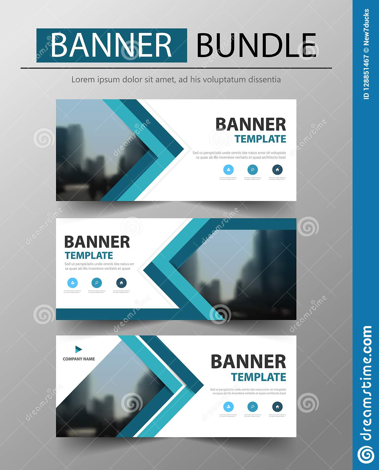 Blue Triangle Business Banner Template Header Cover For