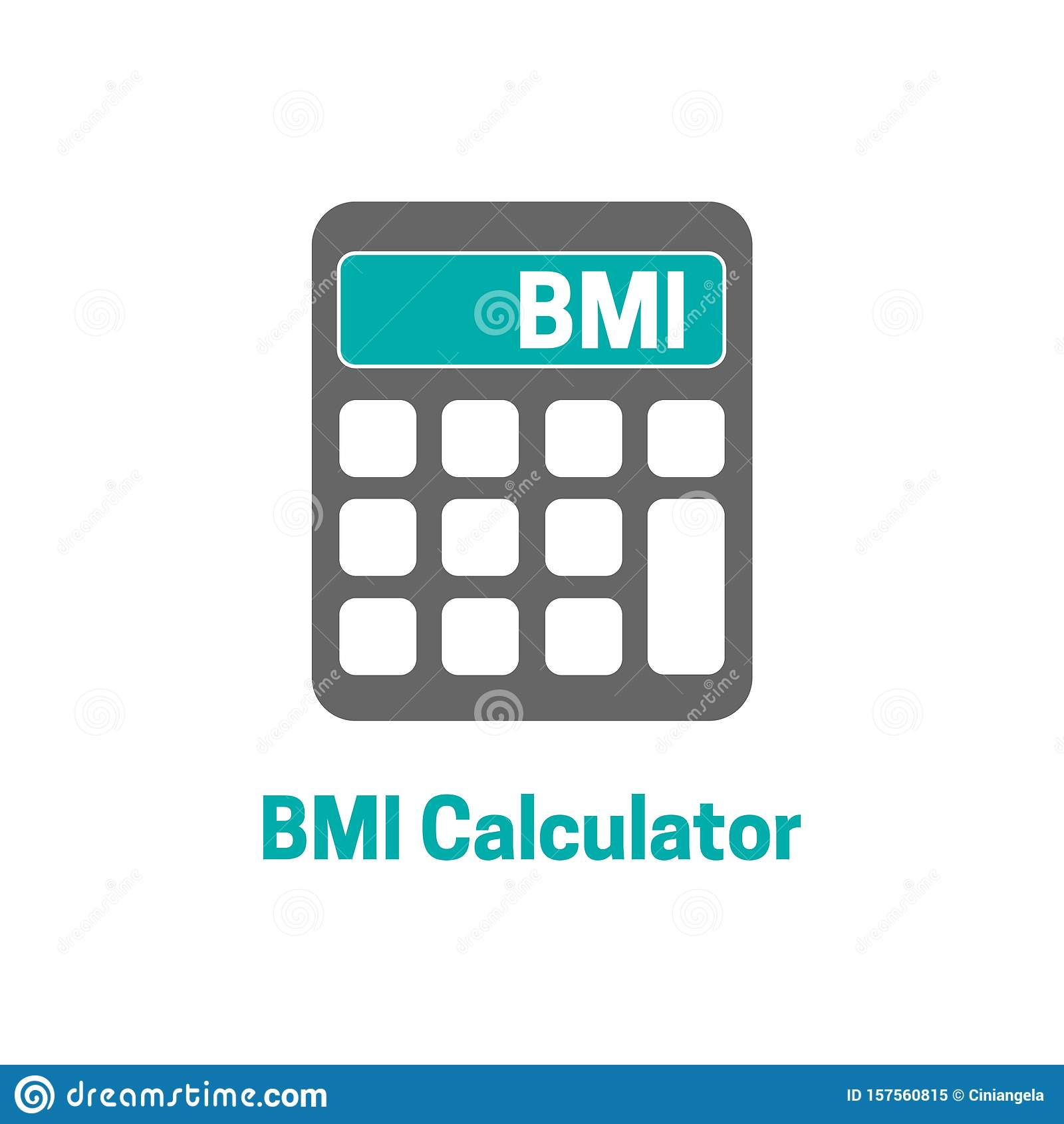 Bmi Body Mass Index Calculator Icon Illustration Stock