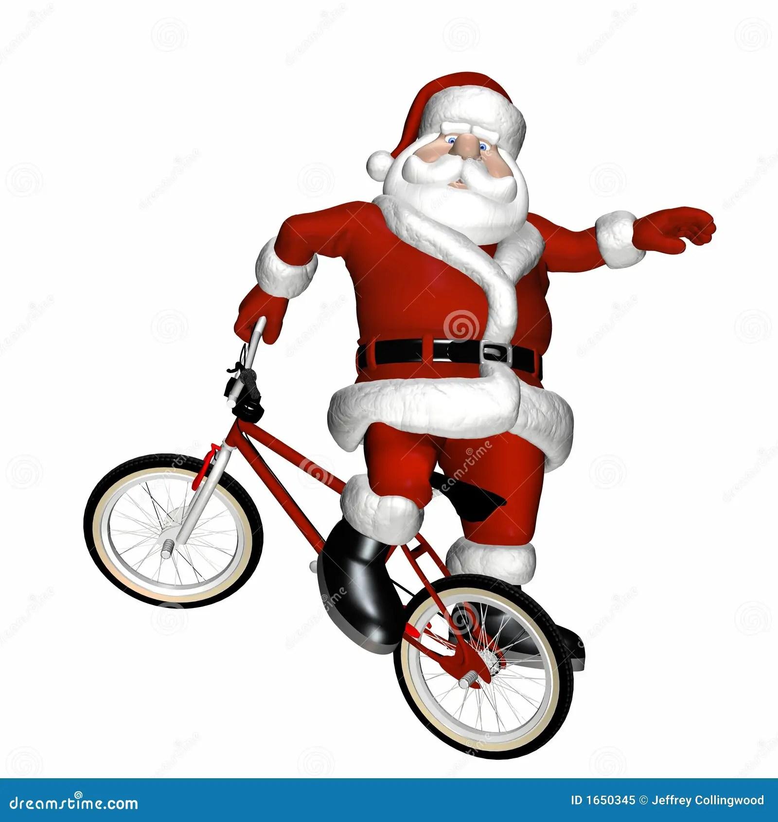 BMX Santa 1 Stock Image Image Of Sport Blue Trick Kris