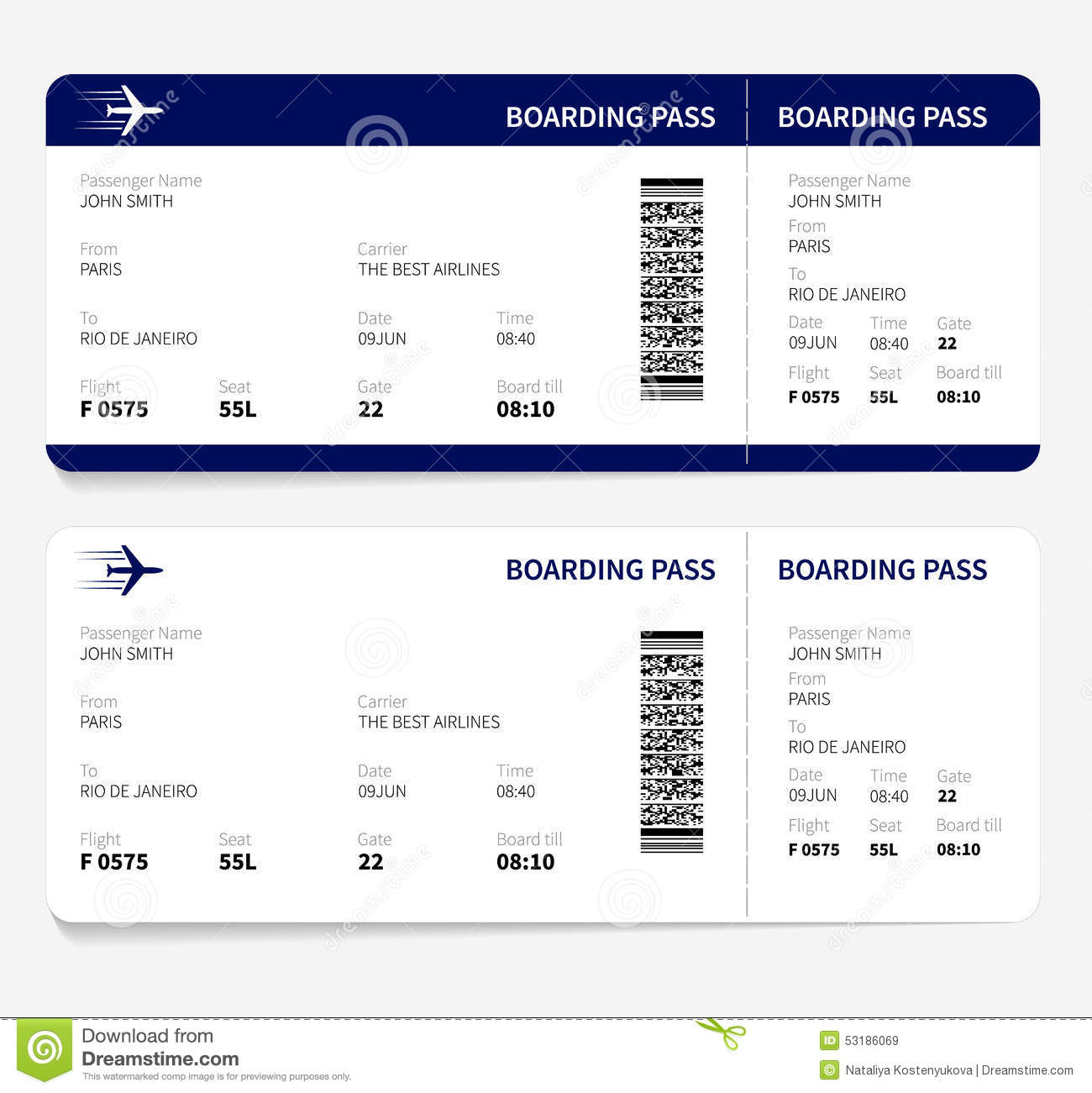 Doc644415 Ticket Format for Word Free Event Ticket Template – Airline Ticket Template Word