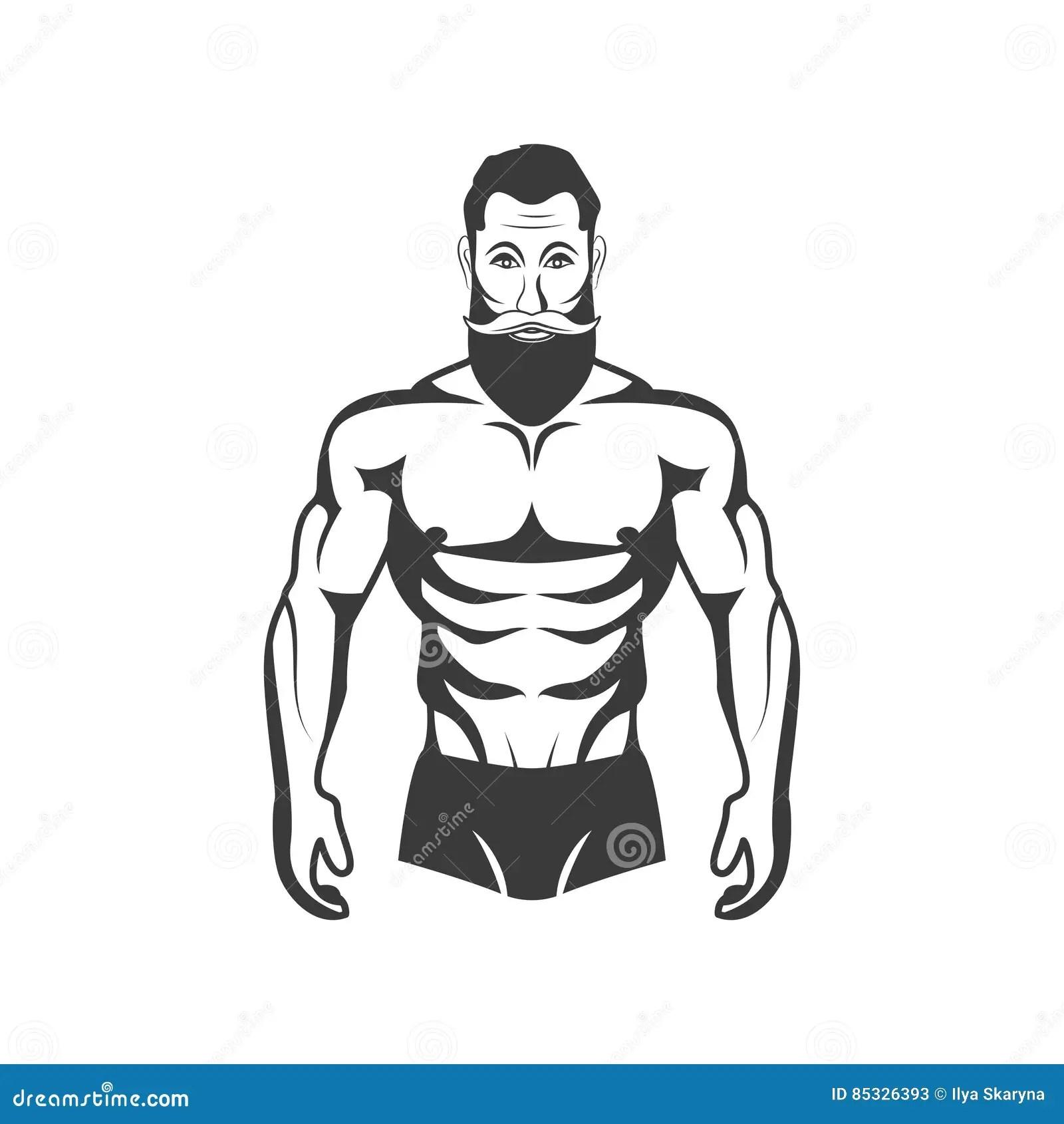Bodybuilder Fitness Model Illustration Aesthetic Body