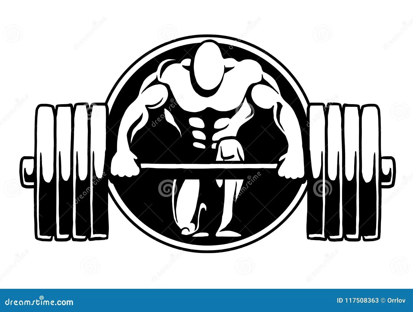 Bodybuilding Logo Fitness Gym Stock Illustration