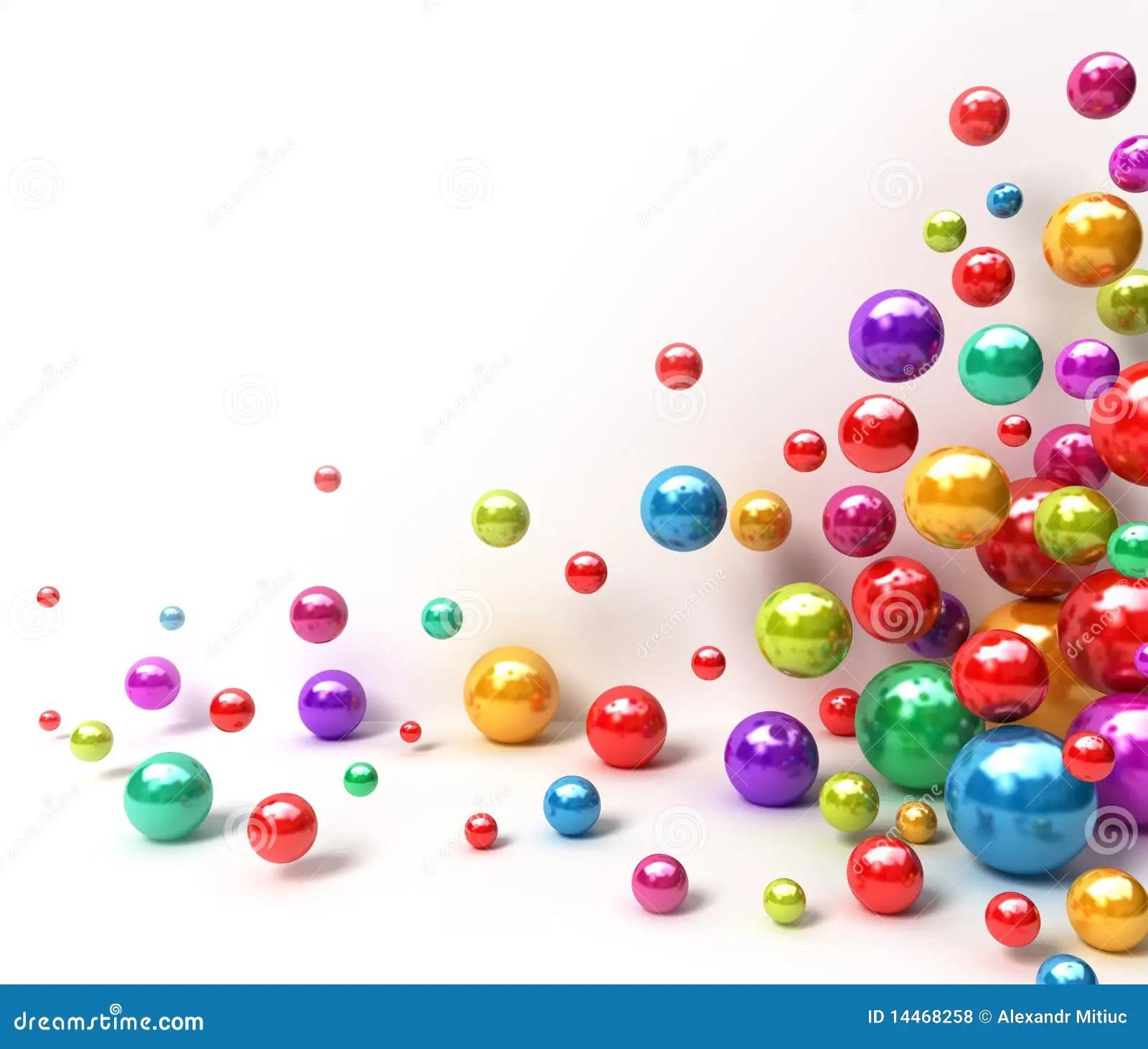 Bolas Coloridas Brillantes Fondo Abstracto Stock De