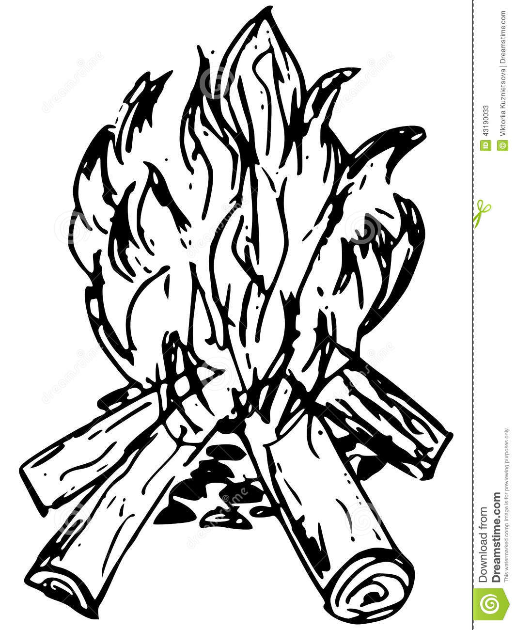 Bonfire Stock Vector