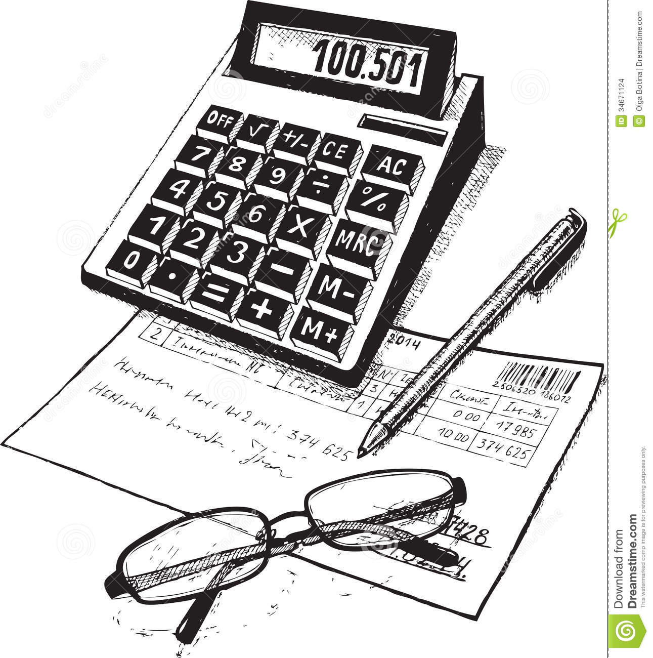 Bookkeeper Stock Vector Illustration Of Signature Business