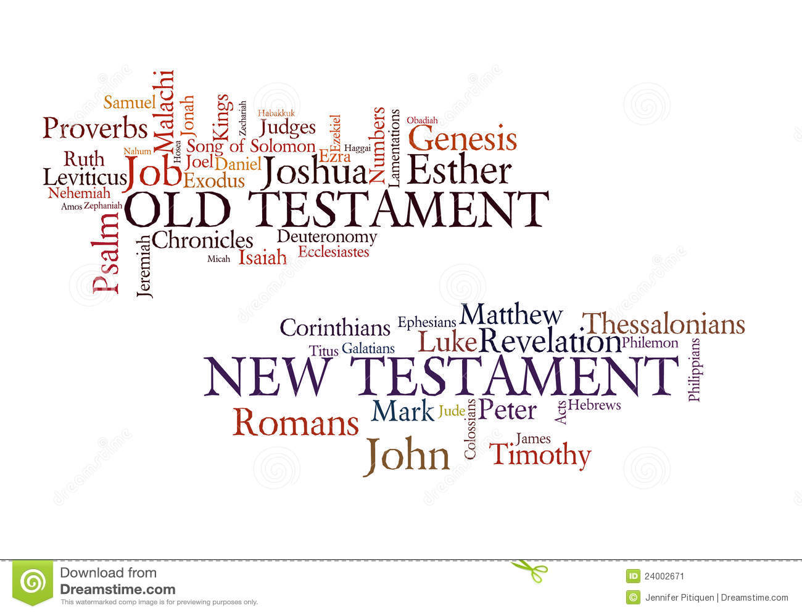 Books Of The Bible Stock Illustration Illustration Of